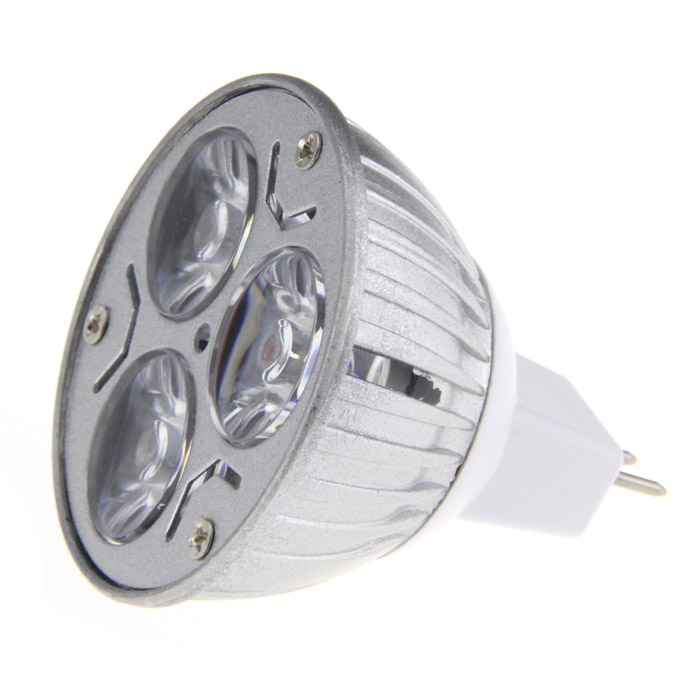 MR16 3W 3-LED Blue Light Spot Lamp Bulb (12V)