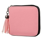 Women's Zipper Imitation Leather Wallet - Pink