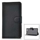 Lychee Pattern Protective PU Case for Z4 Mini / Z4 Compact - Black