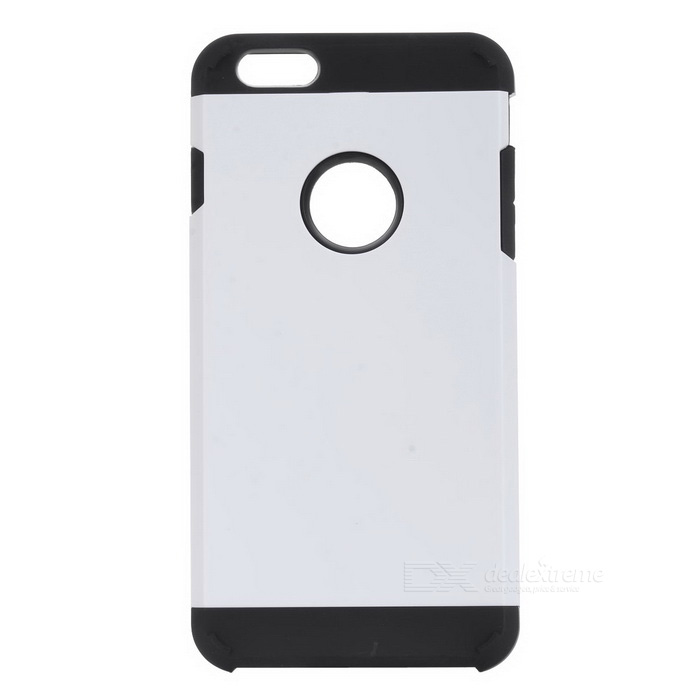 Protective Silicone + PC Back Case for IPHONE 6 PLUS / 6S PLUS - White