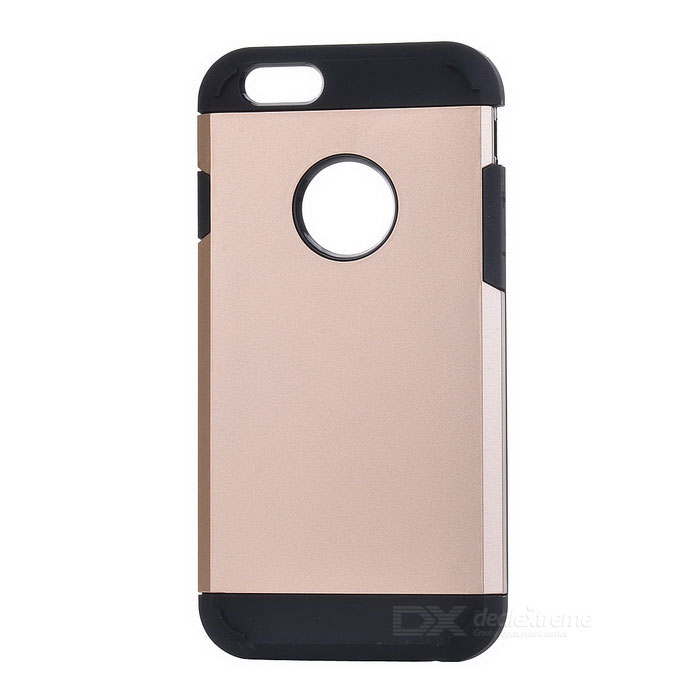 Protective Silicone + PC Back Case for IPHONE 6 / 6S - Gold