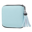Women's Zipper Imitation Leather Wallet - Blue