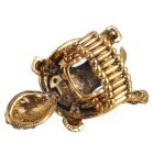 Creative Tortoise Style Finger Ring - Gold + Black