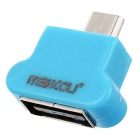 MaiKou Mini USB mâle à femelle USB OTG Adapter - Light Blue