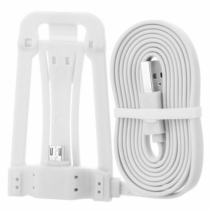 Micro USB Phone Charging Cable w/ Stand - White