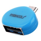 MaiKou Mini USB Male to Female USB OTG Adapter - Light Blue
