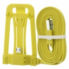 Micro USB Phone Charging Cable w/ Stand - Yellow