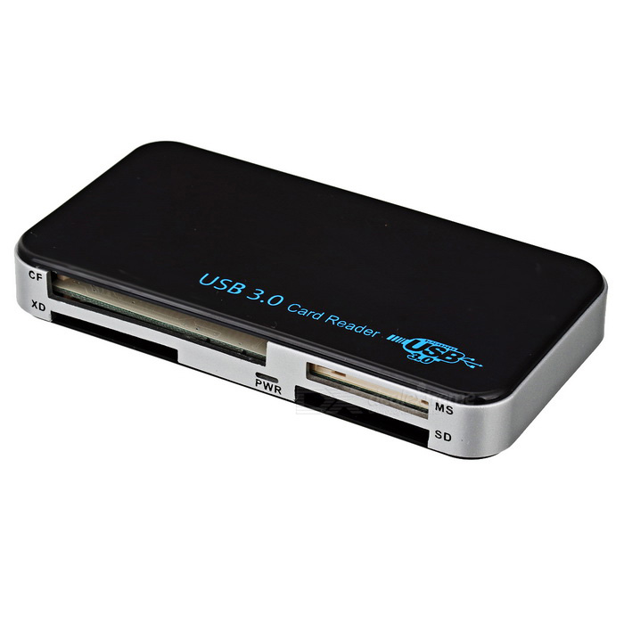BSTUO USB 3.0 Card Reader Support CF/MS/XD/SD/TF/M2 - BlackUSB Gadgets<br>Form  ColorBlackQuantity1 DX.PCM.Model.AttributeModel.UnitMaterialABSPowered ByUSBSupports SystemWin xp,Win 2000,Win 2008,Win vista,Win7 32,Win7 64,MAC OS XPacking List1 * USB 3.0 card reader1 * USB cable (60cm)<br>