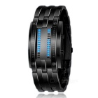 50m Waterproof Zinc Alloy Men's LED Digital Watch - Black (2 * CR2016)