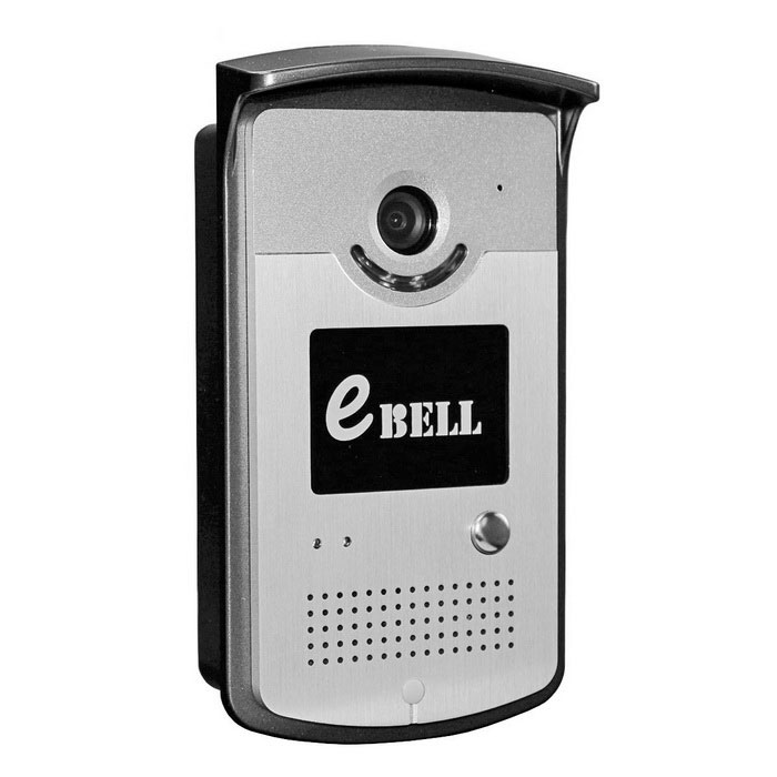 eBELL HD Night Vision WiFi Video Doorbell Camera- Silver (UK Plug)