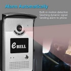 eBELL 720P WiFi Doorbell Camera w/ Alarm Night Vision-Silver (AU Plug)