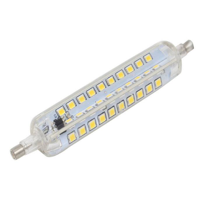 R7S 10W 80-2835 SMD Warm White Dimmable LED Corn Lamp (AC 220~240V)Color BINWarm WhiteMaterialSiliconeForm  ColorWhite + Orange + Multi-ColoredQuantity1 DX.PCM.Model.AttributeModel.UnitPower10WRated VoltageAC 220-240 DX.PCM.Model.AttributeModel.UnitConnector TypeOthers,R7SChip BrandEpistarEmitter TypeOthers,SMD 2835Total Emitters80Actual Lumens650-680 DX.PCM.Model.AttributeModel.UnitColor Temperature12000K,Others,2500~3500KDimmableYesBeam Angle360 DX.PCM.Model.AttributeModel.UnitPacking List1*LED lamp<br>