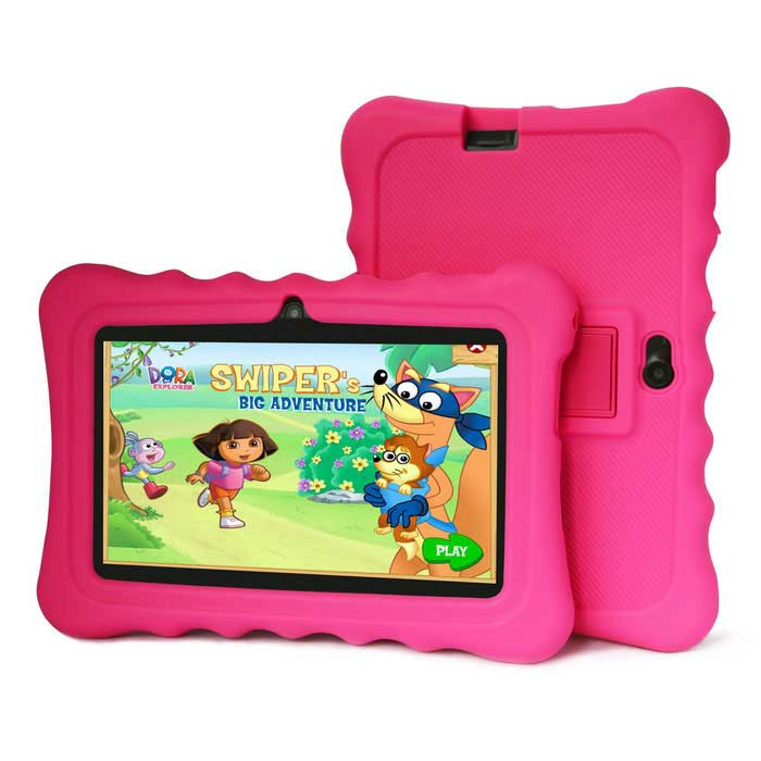"Ioision M701Q(M701) 7"" Quad-Core Android 4.4 KidsTablet - Deep Pink"