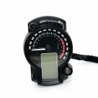 LCD Digital Speedometer Motorcycle Tachometer Odometer - Black