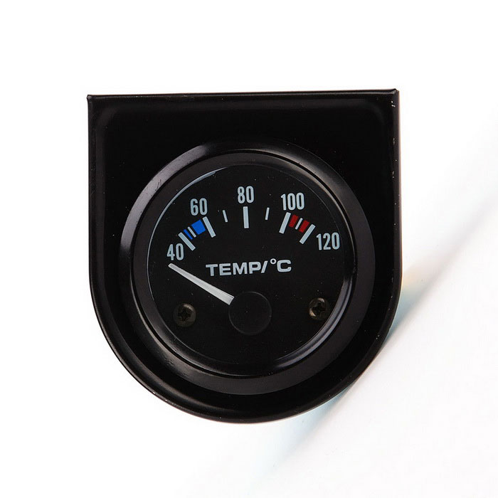 Universal Car Pointer temperatura dell'acqua del calibro del Temp - Nero (40 ~ 120'C)