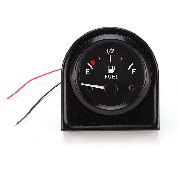 DC 12V E-1/2-F Pointer Car Polttoainemittari Meter w / Fuel Sensor