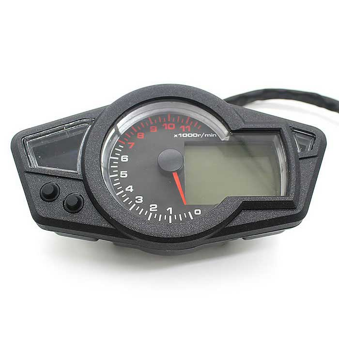 CS-295 12V Motorcycle LCD Dashboard Stopwatch - Black