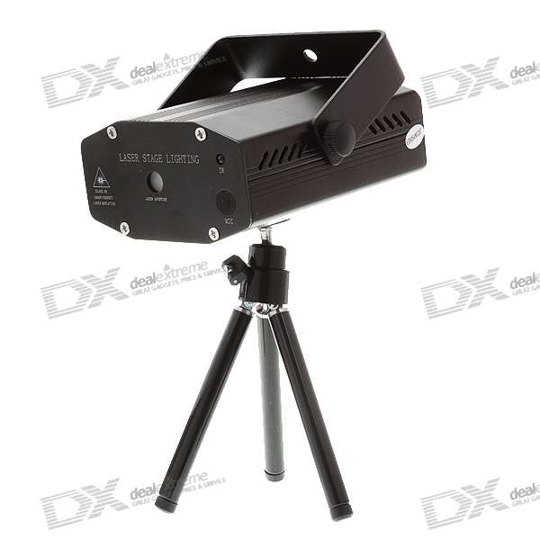 50mW Green + 100mW Red Laser Stage Lighting Projector with IR Remote + Tripod (100V~240V AC)