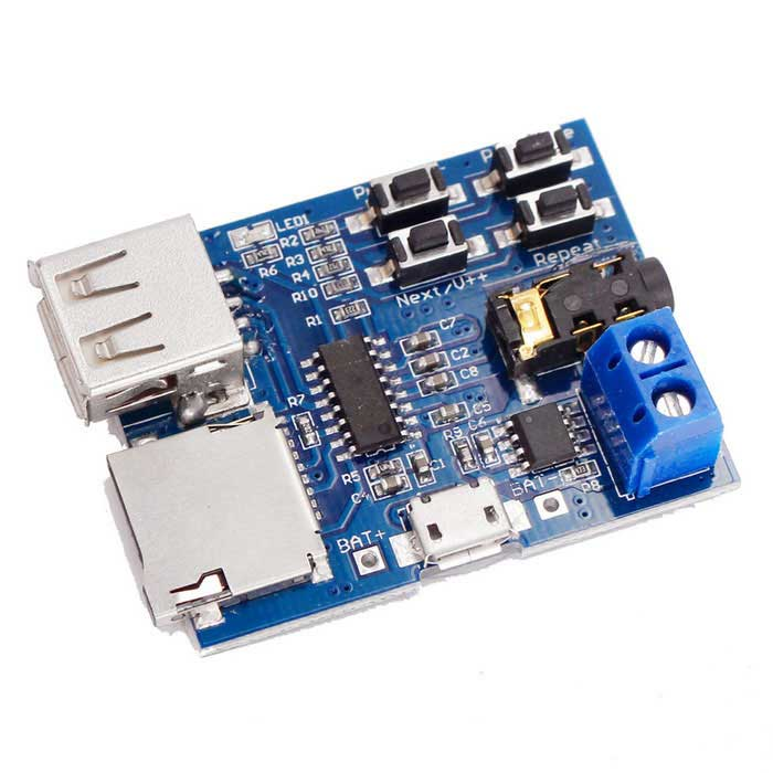 MP3 Lossless Decoding Board TF Card U Disk Module - Deep Blue