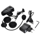 500m Bluetooth del casco de la motocicleta del Interphone del intercomunicador para auriculares - Negro