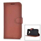 Protective Anti-slip Abrasion Resistance Dustproof Full Body PU Leather Case w/ Card Slots / Stand