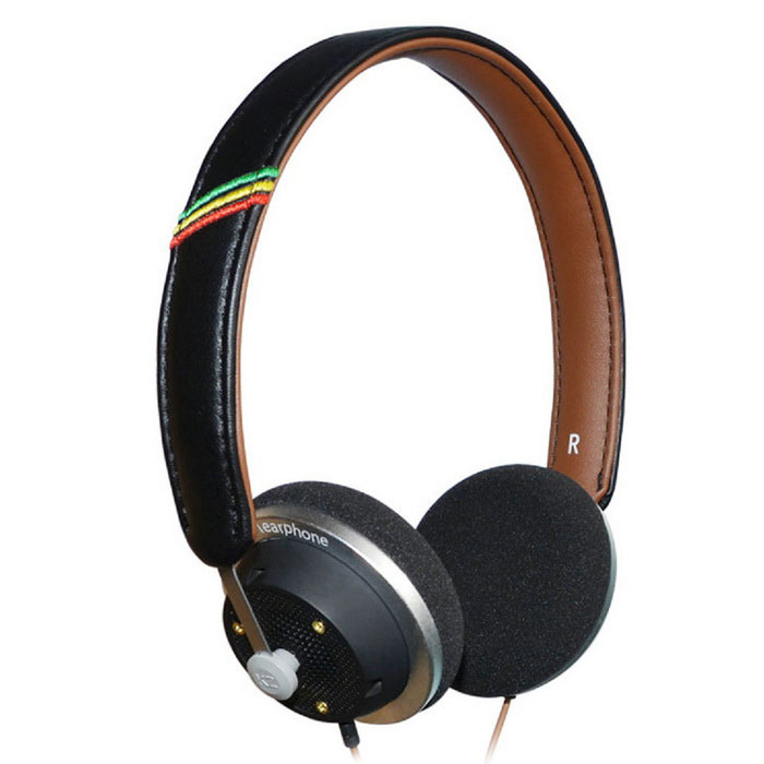 KZ LP3 moda Wired Hi-Fi Music Headband Headset - Black + Brown