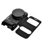 Flip Open PU Case w/ Dual Visual Windows for Samsung S4 Zoom - Black
