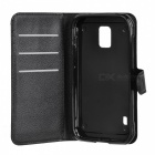 Lychee Pattern Flip-Open Case for Samsung Galaxy S5 Active/G870 -Black