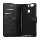 Lychee Pattern Protective PU Case for Huawei P9 Plus - Black