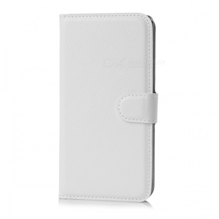 Lychee Pattern Protective PU Case for Sony xperia Z4 - White