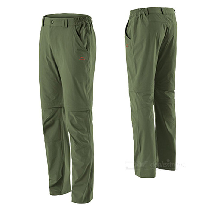 NatureHike Men's Two-Section Detachable Pants - Army Green (L)