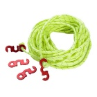 NatureHike Tent 12m Wind Rope + S Type Fasteners Set - Red + Green
