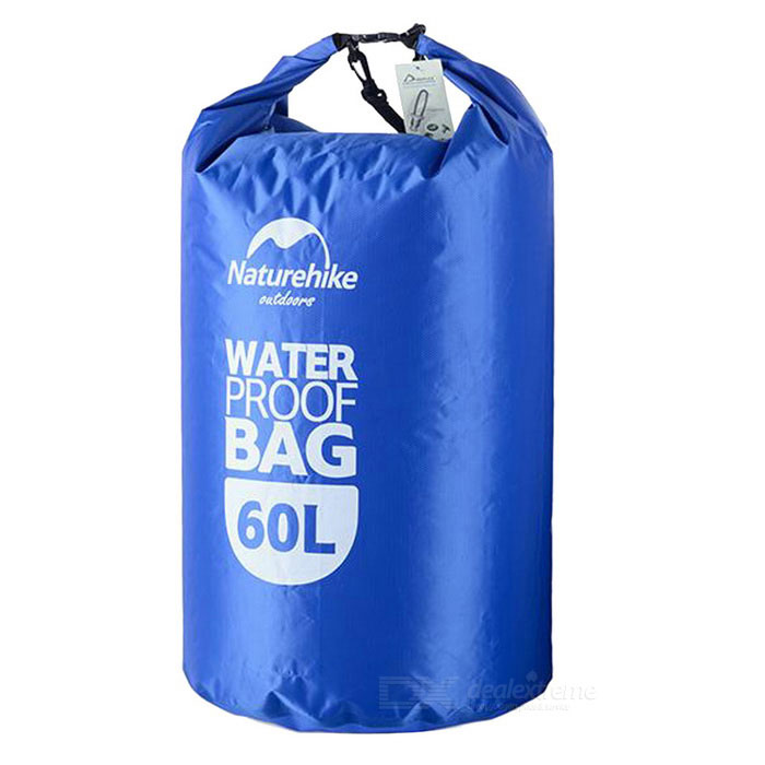 NatureHike Drifting Waterproof Bag w/ Visual Window - Blue (60L)Boating &amp; Diving<br>Form ColorBlueQuantity1 DX.PCM.Model.AttributeModel.UnitMaterial70% polyester + 30%PVC + UTX + DURAFLEXGenderUnisexPacking List1 * Waterproof bag<br>