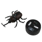 Infrared Remote Control 4-CH Beetle Model Toy - Black + Coffee