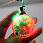 Plastic Flash Colorful Light Flying Ball Toy - White + Black