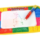 Paint Learning Magic Water Pen Doodle Mat  - White + Blue + Multicolor