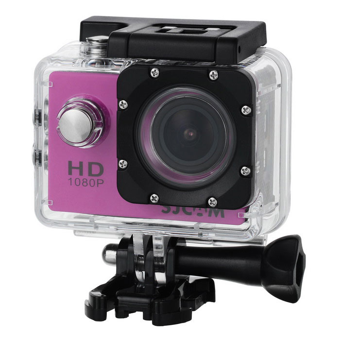"SJCAM SJ4000 2.0"" 12MP FHD Outdoor Sports Digital Video Camera - Pink"