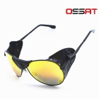 OSSAT Polarization Mountaineering Sunglasses - Black + Yellow REVO