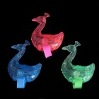 Finger Peacock Raise Tail Optical Fiber Lamp Toy - willekeurige kleur