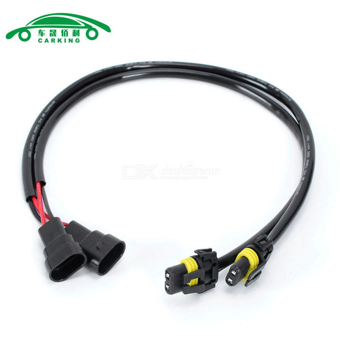 9005 M to F Wire Harness for Xenon HID Kit Headlight Foglight (2PCS)