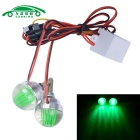 CARKING 1W Motorcycle LED License Plate Light Green Light (12V / 2PCS)