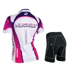 Short-Sleeve Jersey + Calças Curtas NUCKILY Outdoor Sports femininas