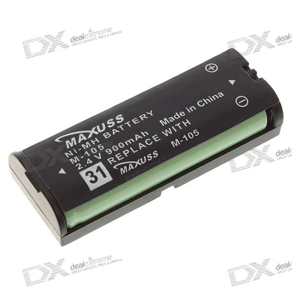 2.4V 900mAh Replacement Battery for Panasonic HHR-P105