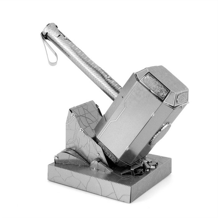 DIY 3D Puzzle Model Assembled Educational Toys Hammer - Silver