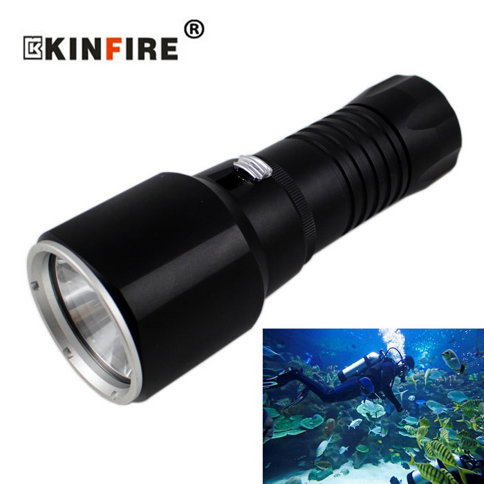 XM-L2 U2 Cool White 1000lm LED 170m Diving Flashlight (1 * 32650)