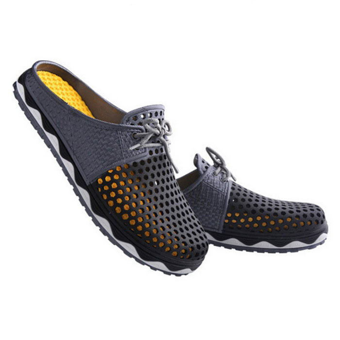 Summer Men''s Breathable Air-mesh Beach Leisure Sandals Shoes - Black