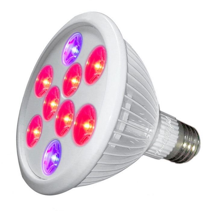 youoklight YK6014 E27 9W 9-LED IP55 завод растет свет (AC 85 ~ 265V)