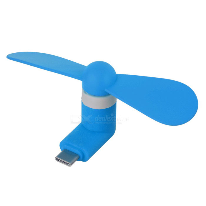 Fan Telefone Mini Tipo-C - Light Blue + Branco