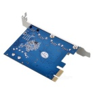 PCIE to USB 3.0 Gigabit Ethernet Adapter Card - Blue + Silver