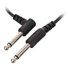 6.35mm Male to Male Audio Speaker Connecting Cable w/ Adapters - Black